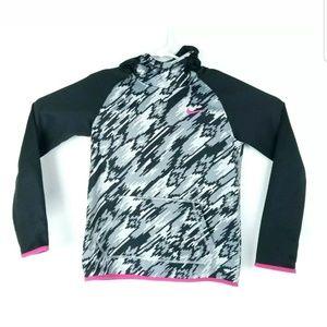 Nike Girls Size Large Hoodie Camo Pink Swoosh